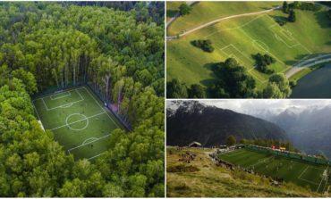 Dünyanın ən qeyri-adi və maraqlı futbol meydançaları