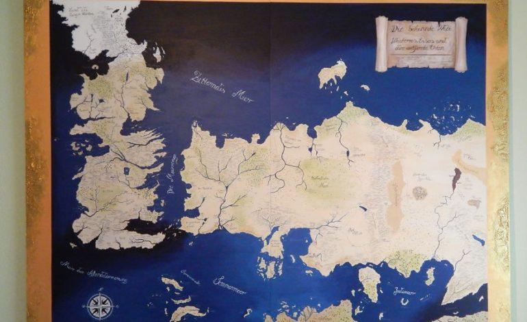 Çəkimi tam 120 saat çəkən Game of Thrones xəritəsi