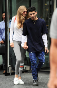 Gigi Hadid and Zayn Malik all smiles as they hold hands while out and about in NYC. Pictured: Gigi Hadid and Zayn Malik Ref: SPL1318440  130716   Picture by: JENY / Splash News Splash News and Pictures Los Angeles:310-821-2666 New York:212-619-2666 London:870-934-2666 photodesk@splashnews.com