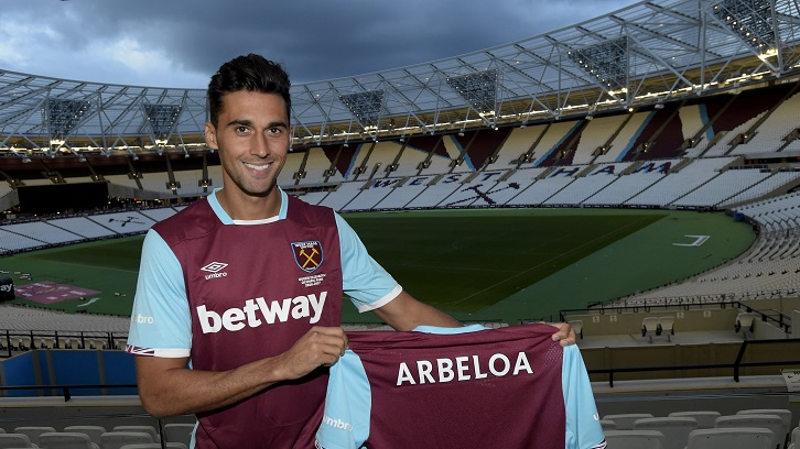 STRATFORD, ENGLAND - AUGUST 31: Alvaro Arbeloa is unveil as West Ham United's latest signing on August 31, 2016 in Stratford, England. (Photo by Arfa Griffiths/West Ham United via Getty Images) *** Local Caption *** Alvaro Arbeloa
