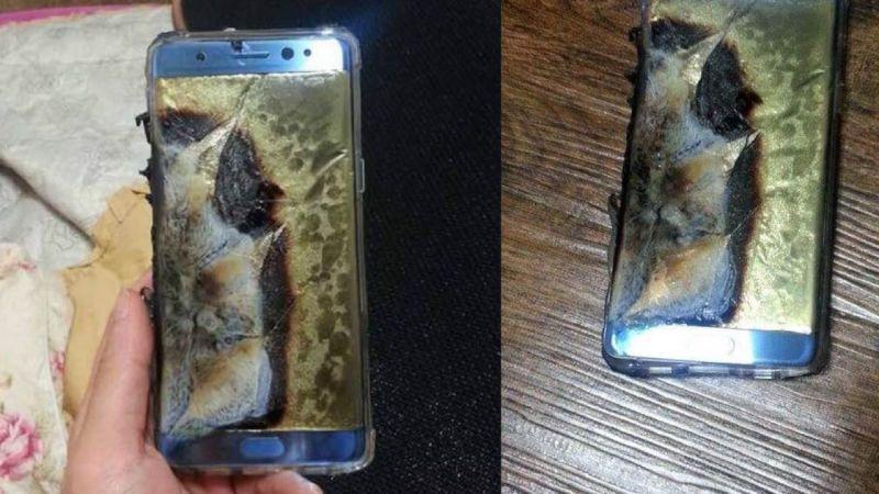 Cihazın doldurulması zamanı partladığına dair internetdə paylaşılan fotoşəkillərdən biri.