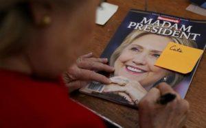 yaaz/az foto Donald Trump Hillary Clinton