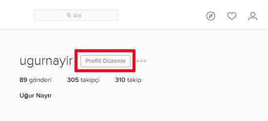 Instagram profilin deaktiv edilməsi