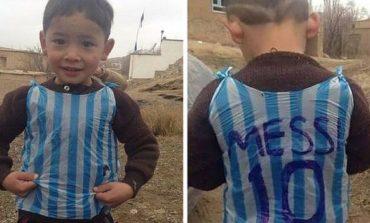 Messi əfqanıstanlı oğlanla görüşdü (Foto)