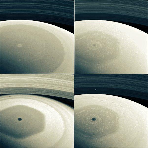 NASA-nın Saturn araşdırma peyki Cassini, 20 illik missiyasının son mərhələsində göndərdiyi şəkil.