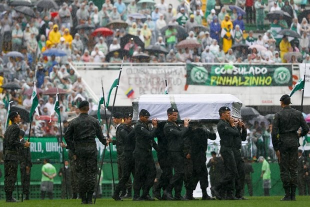 yaaz.az Memorial ceremony for Chapecoense