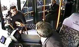 Burak Yılmaz'ın avtobus sürücüsü ilə davası - Video