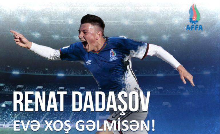 Ayntraxt-ın futbolçusu Renat Dadaşov, Azərbaycan Millisində
