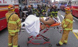 New York'da sərnişin qatarı relsdən çıxıb, 100 yaralı
